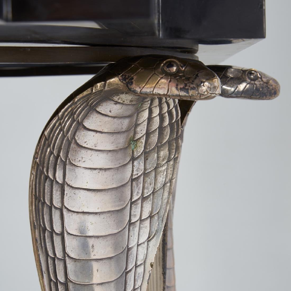ALBERT CHEURET Rare Cobra console table w/ mirror - 6