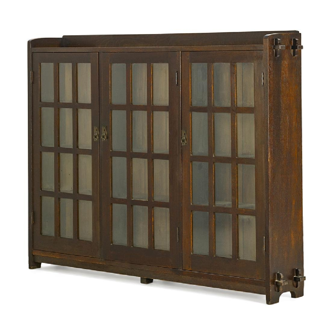 L. & J.G. STICKLEY Triple-door bookcase