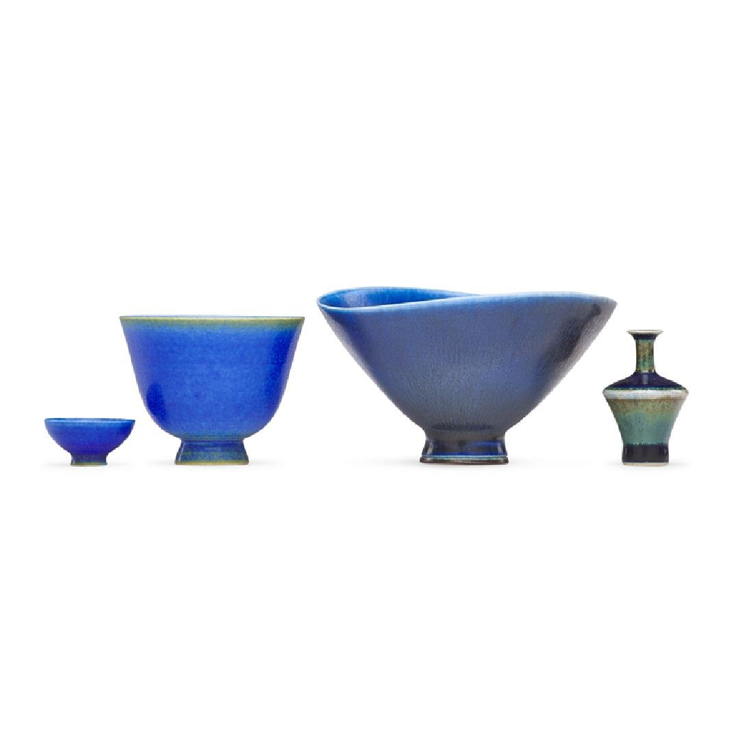 BERNDT FRIBERG ETC. Four miniature vases