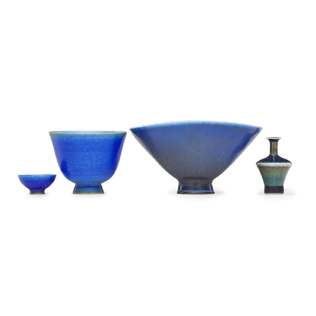 BERNDT FRIBERG ETC. Four miniature vases - 2