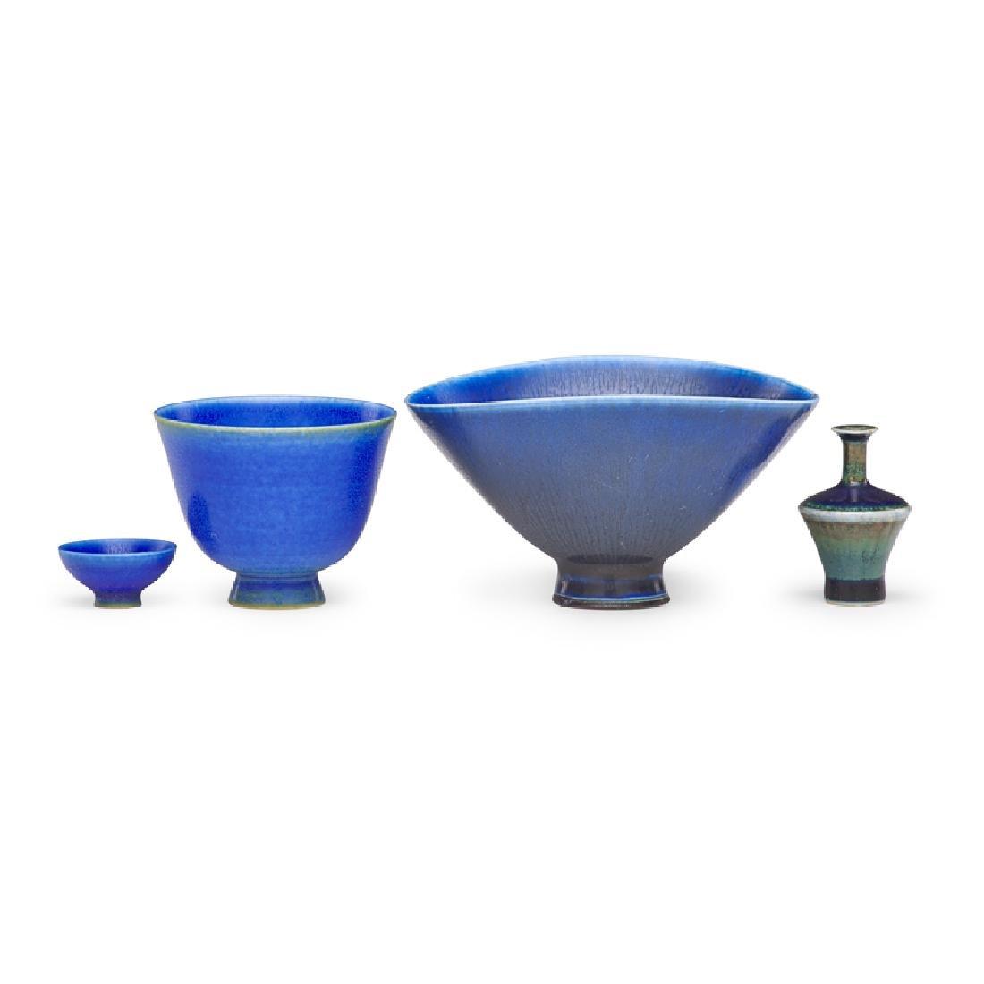 BERNDT FRIBERG ETC. Four miniature vases - 3