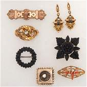 VICTORIAN BROOCHES & EARRINGS