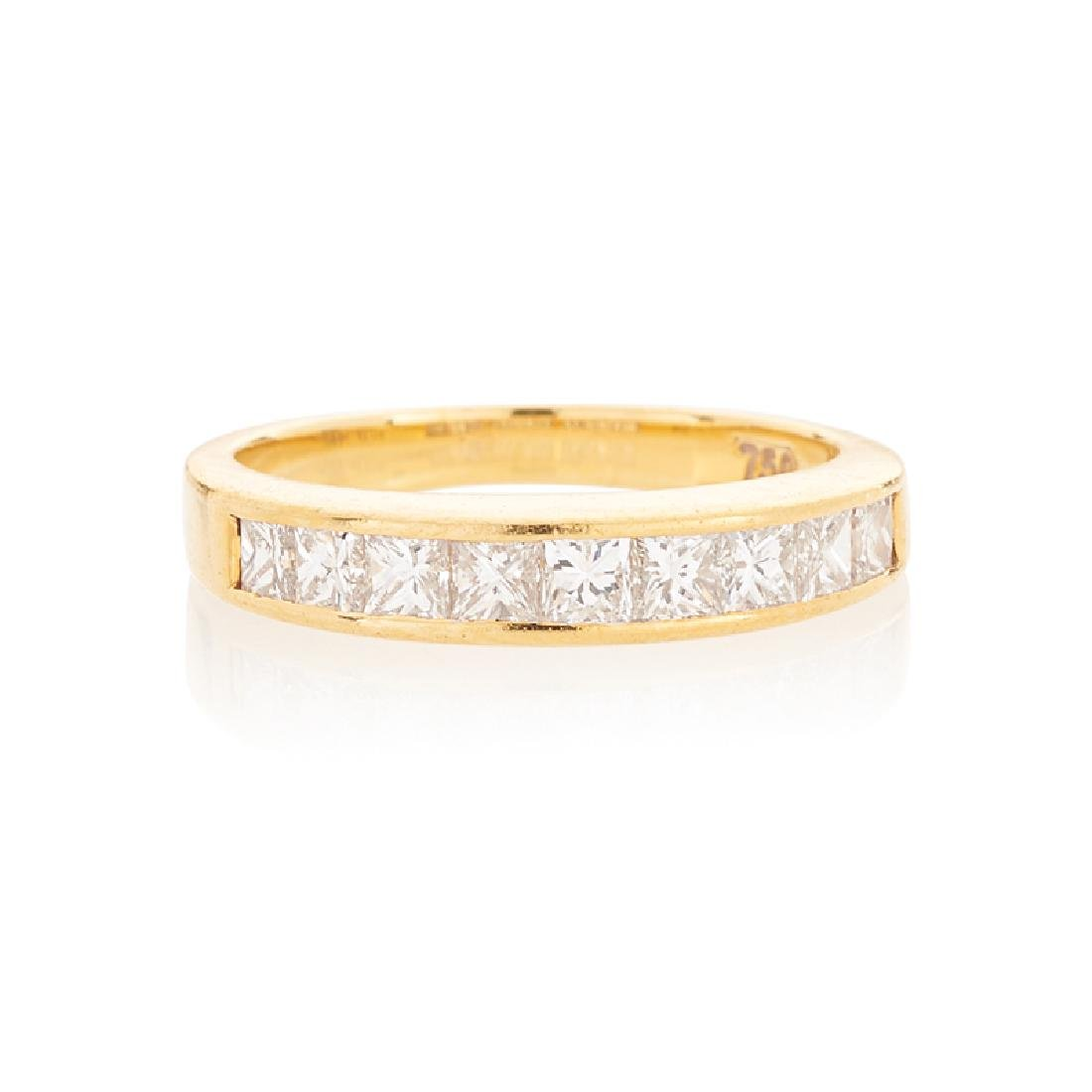 TIFFANY & CO. DIAMOND & YELLOW GOLD BAND RING