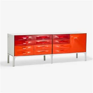 RAYMOND LOEWY Two DF-2000 cabinets