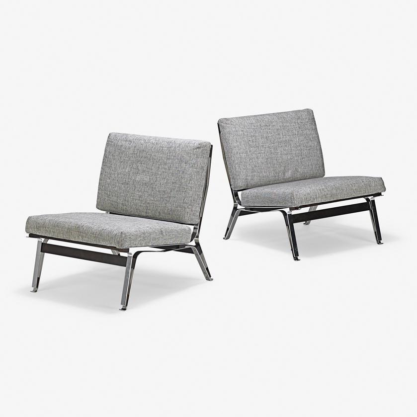 ICO PARISI Pair of lounge chairs