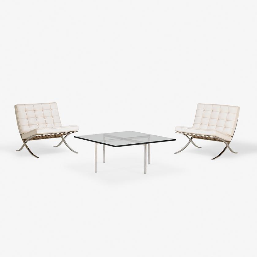 LUDWIG MIES VAN DER ROHE Pr. Barcelona chairs, tab