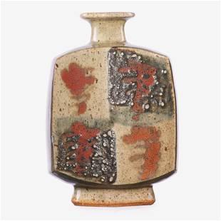 BERNARD LEACH Flattened vase