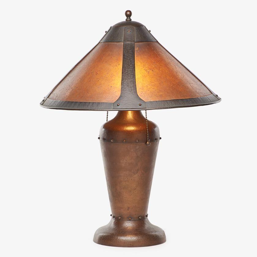 JOHN WILLOCX Style of Dirk Van Erp table lamp