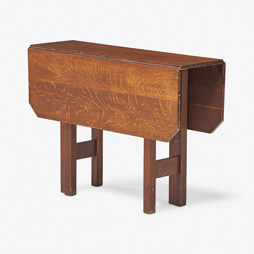 GUSTAV STICKLEY Drop-leaf table