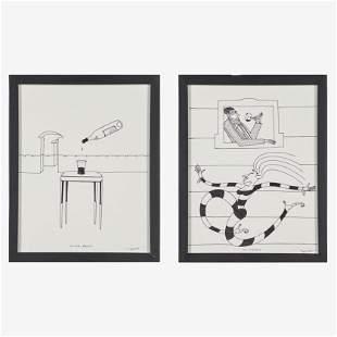 DAN DAILEY Two drawings