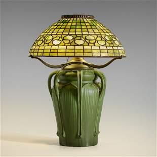George P. Kendrick and Tiffany Studios, Rare table lamp