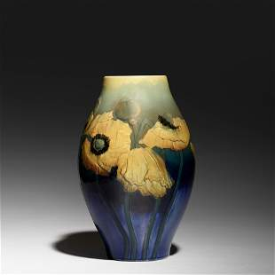 William Purcell McDonald, Relief Iris vase with poppies