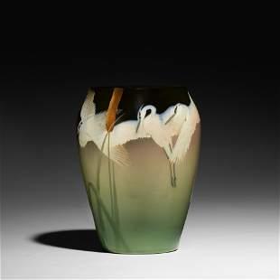 Kataro Shirayamadani, exceptional Dark Iris vase