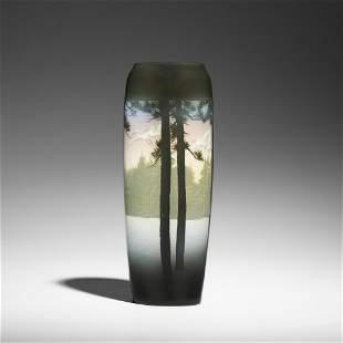 Kataro Shirayamadani, rare banded Iris Glaze vase