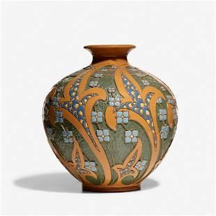 Frederick Hurten Rhead for Roseville, Della Robbia vase