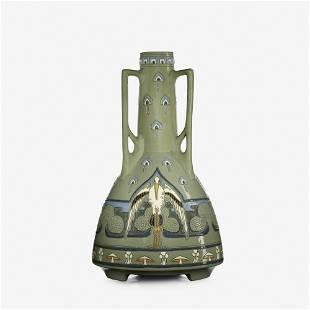 Frederick Rhead for Roseville, Della Robbia vase