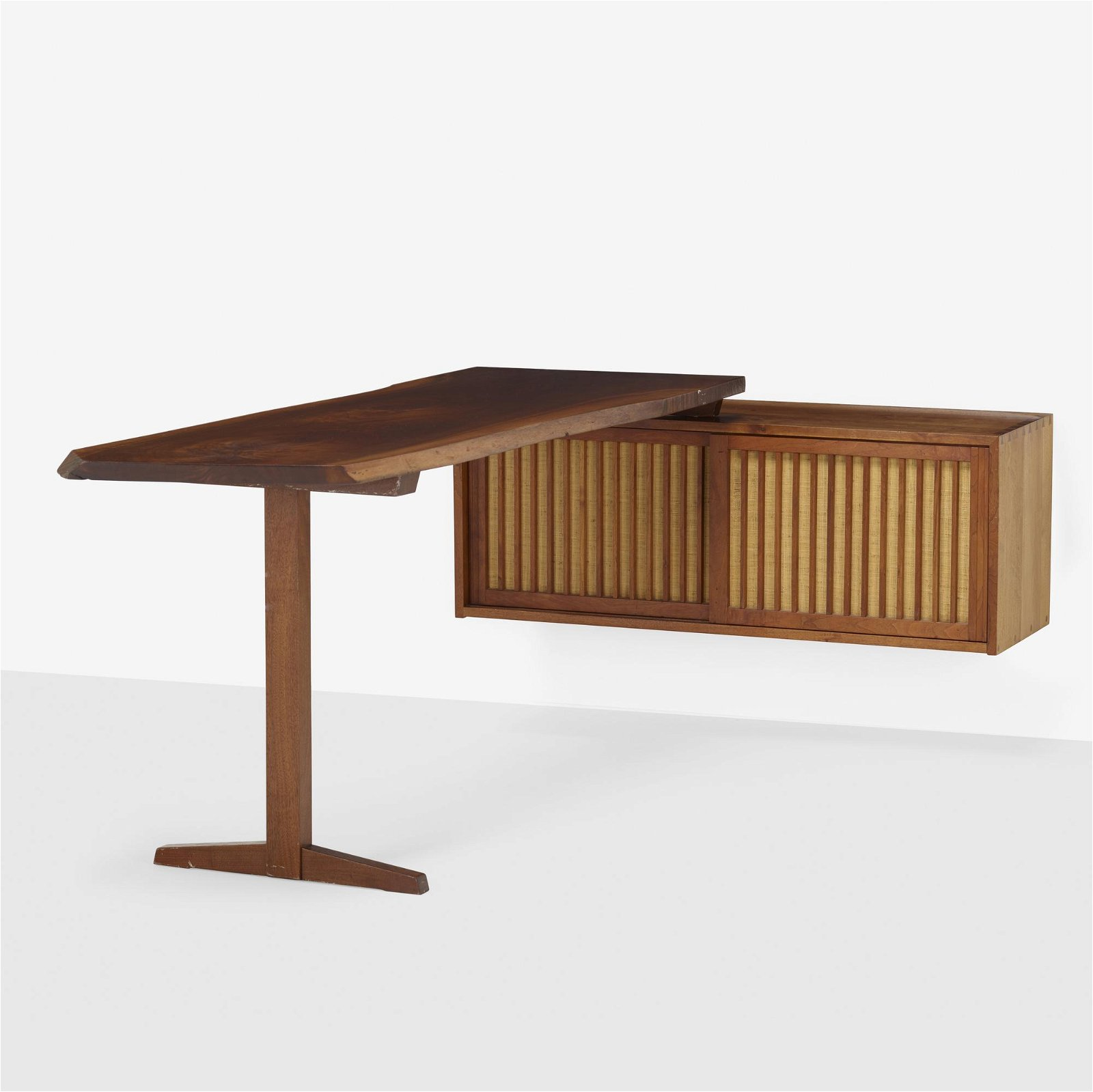 George Nakashima, Custom wall-mounted cabinet with