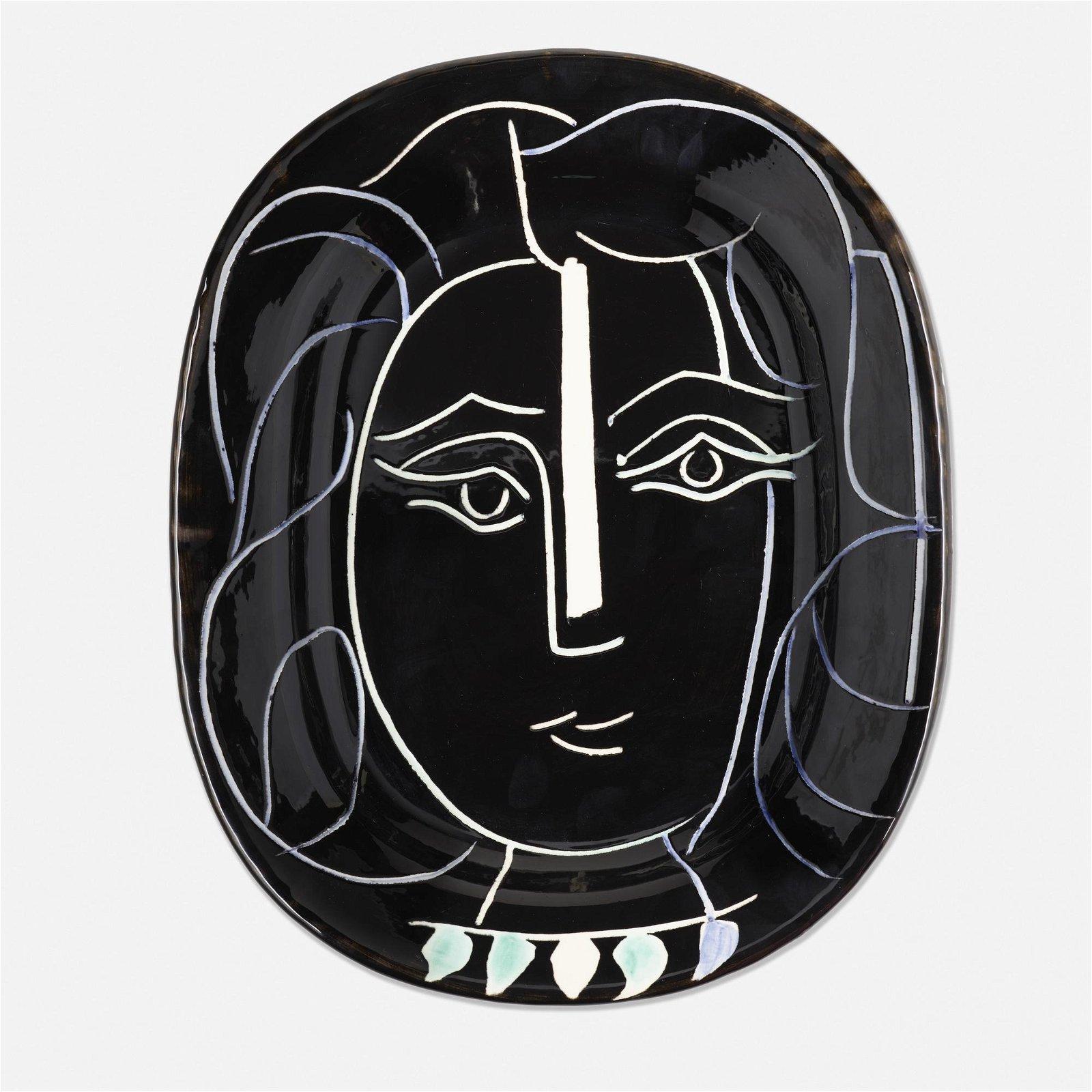 Pablo Picasso, Visage de Femme plate