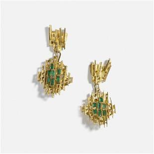 Ernest Blyth, pair of earrings