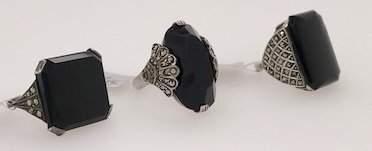 Assorted marcasite jewelry