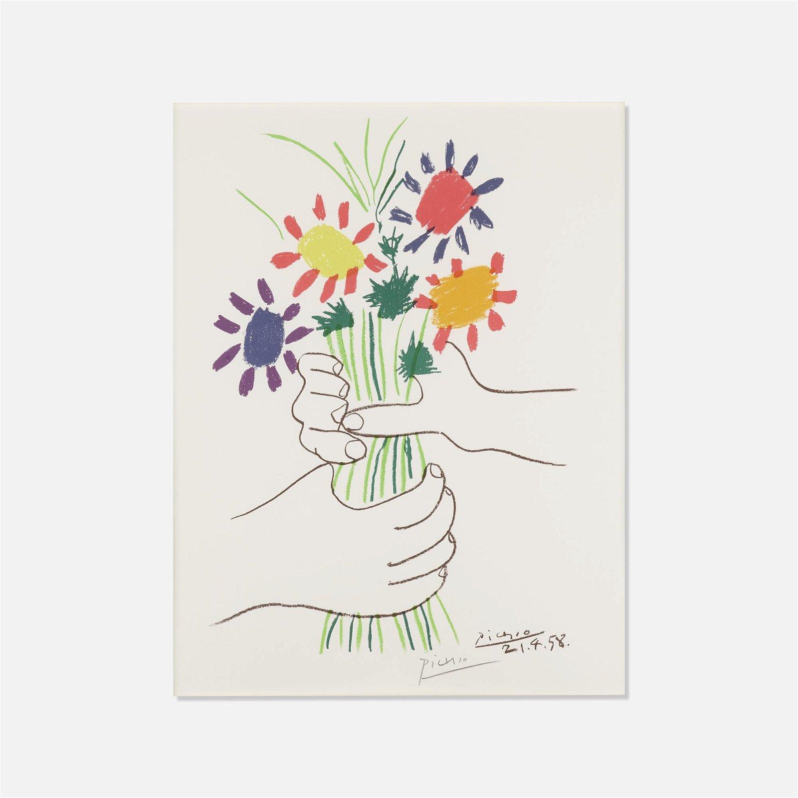 After Pablo Picasso, Bouquet de Fleurs