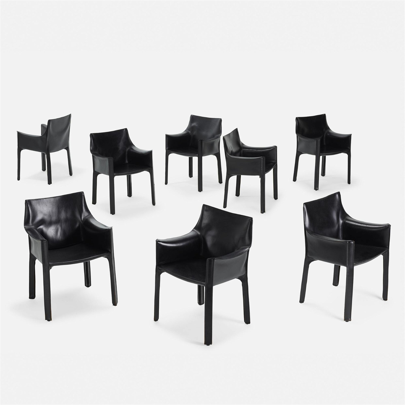 Mario Bellini, Cab chairs, set of eight