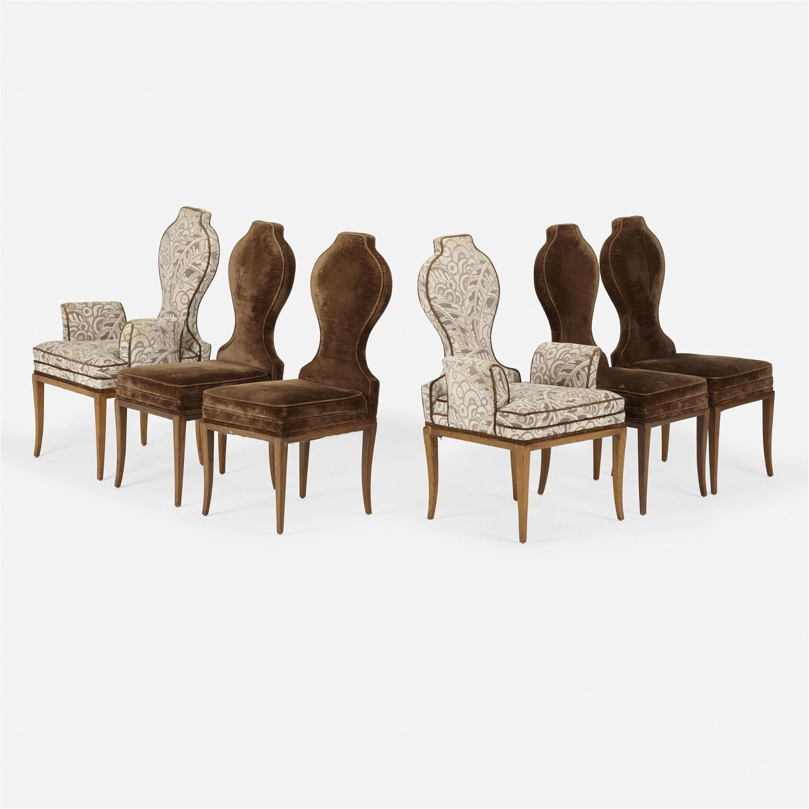 Tommi Parzinger, dining chairs, set of six