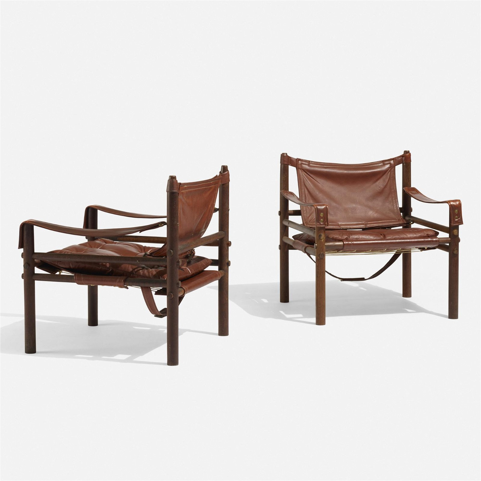 Arne Norell, Sirocco Safari lounge chairs, pair