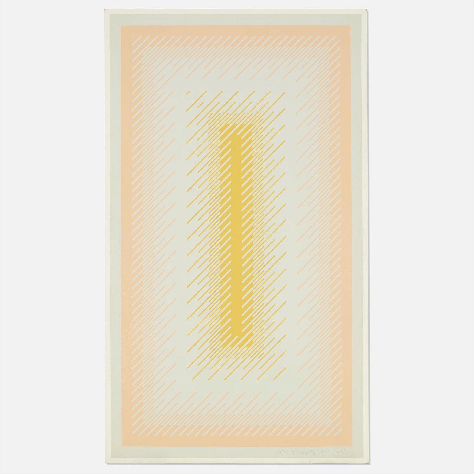 Richard Anuszkiewicz, Reflections IV - Grey