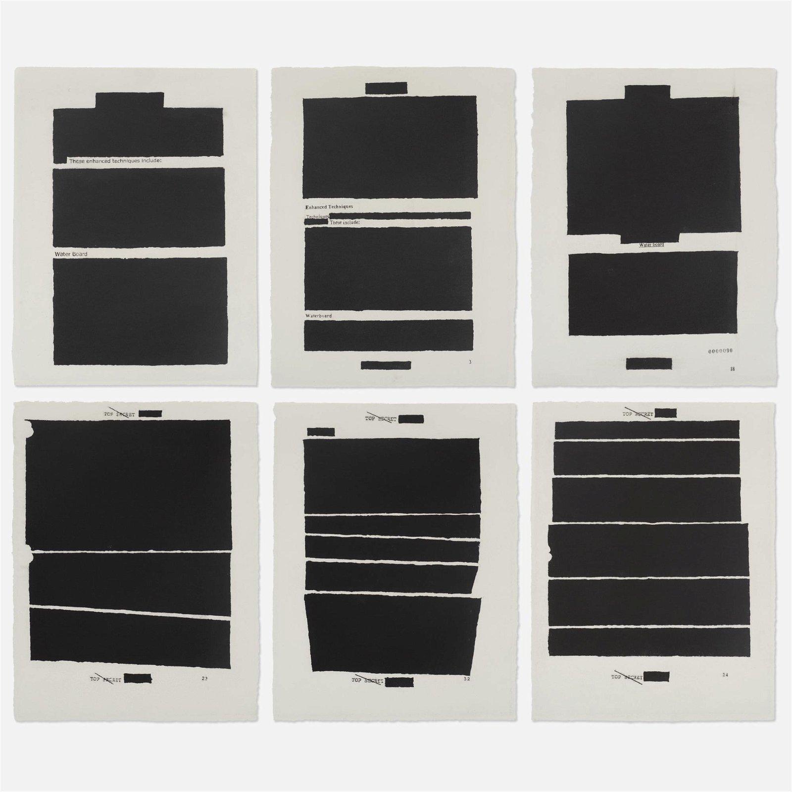 Jenny Holzer, Top Secret (six works)
