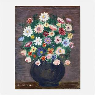 Abraham Walkowitz, Untitled (still life with flowers)