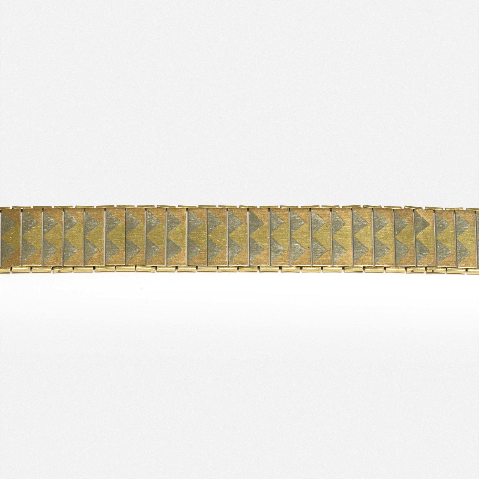 Cartier, Art Deco tri-color gold bracelet