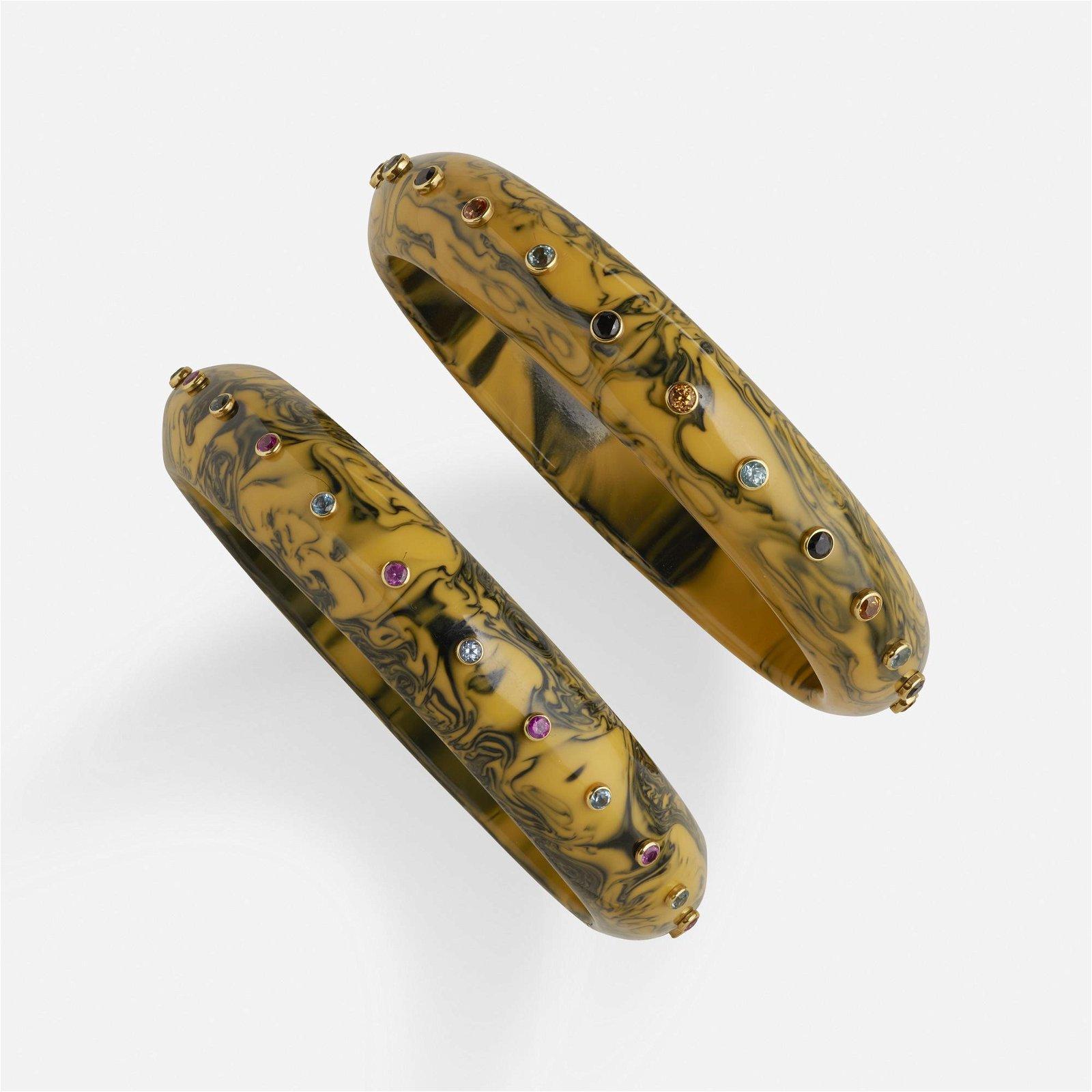 Mark Davis, Two gem-set bangles