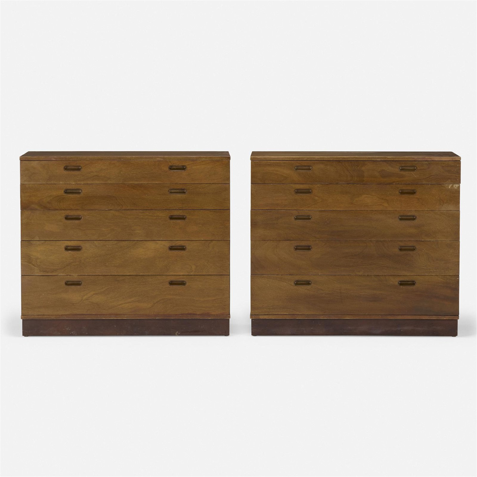 Edward Wormley, chest of drawers, pair