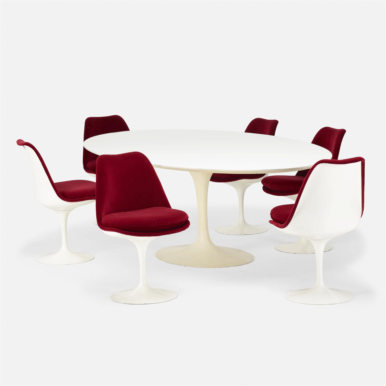 Eero Saarinen, Tulip table and chairs, set of six