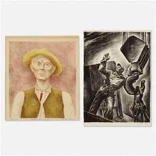 Herschel Levit and Arnold Blanch, two works