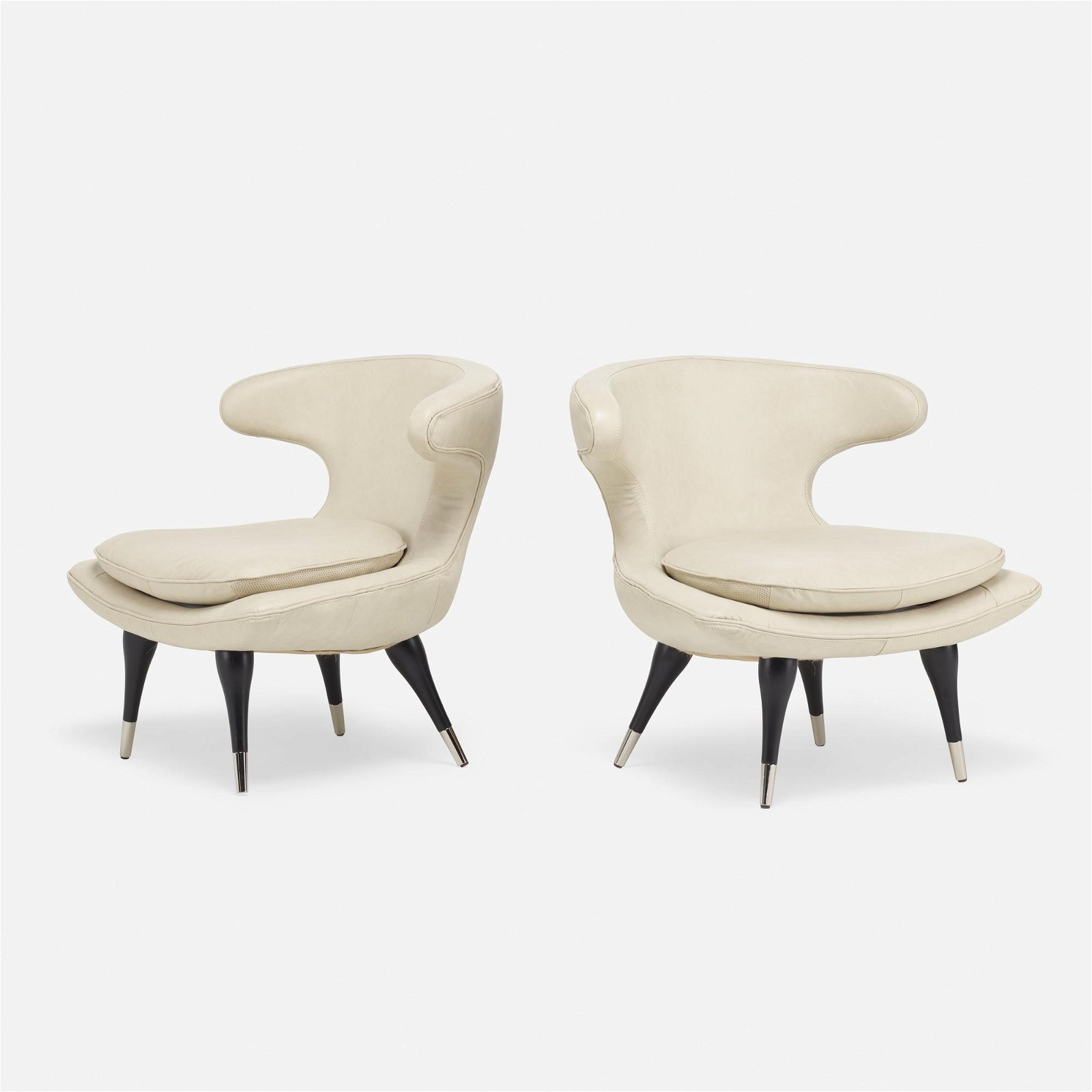 Mid-Century Modern, lounge chairs, pair
