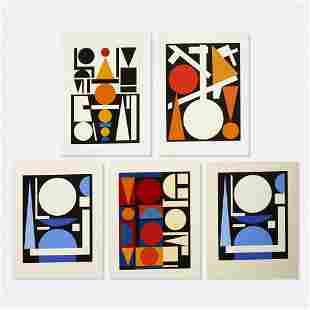 Auguste Herbin, five works