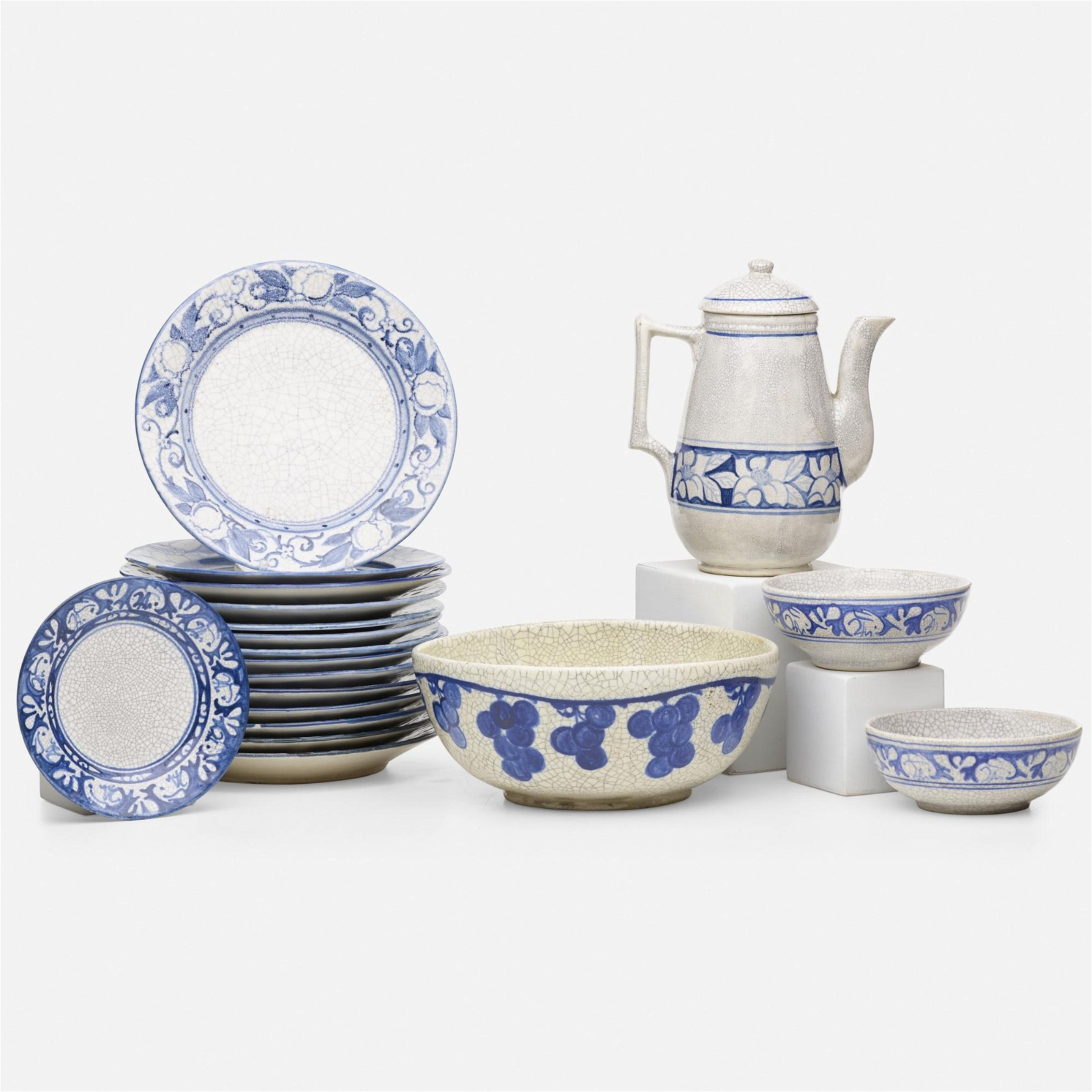 Dedham Pottery, tableware pieces