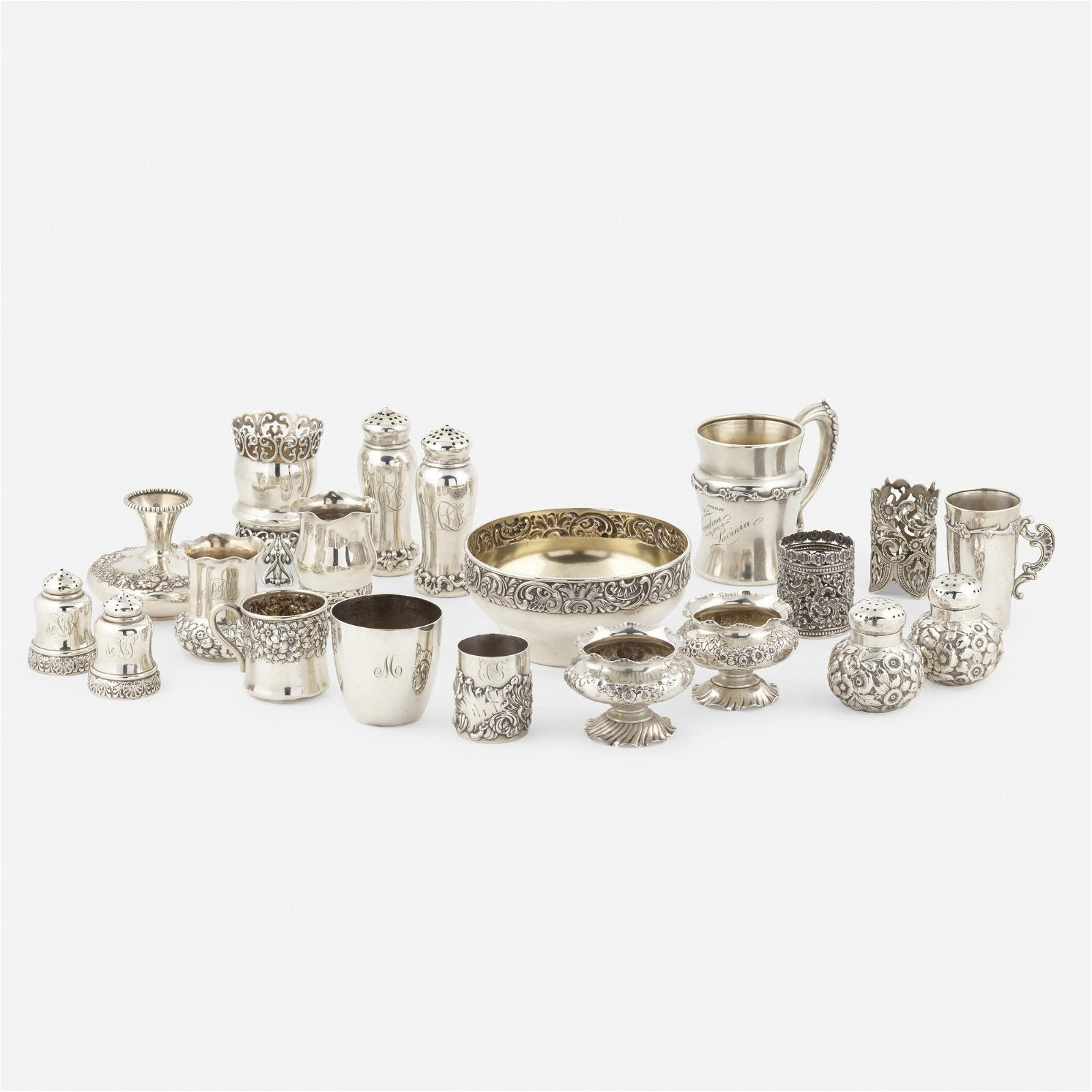 George W. Shiebler & Co., holloware items