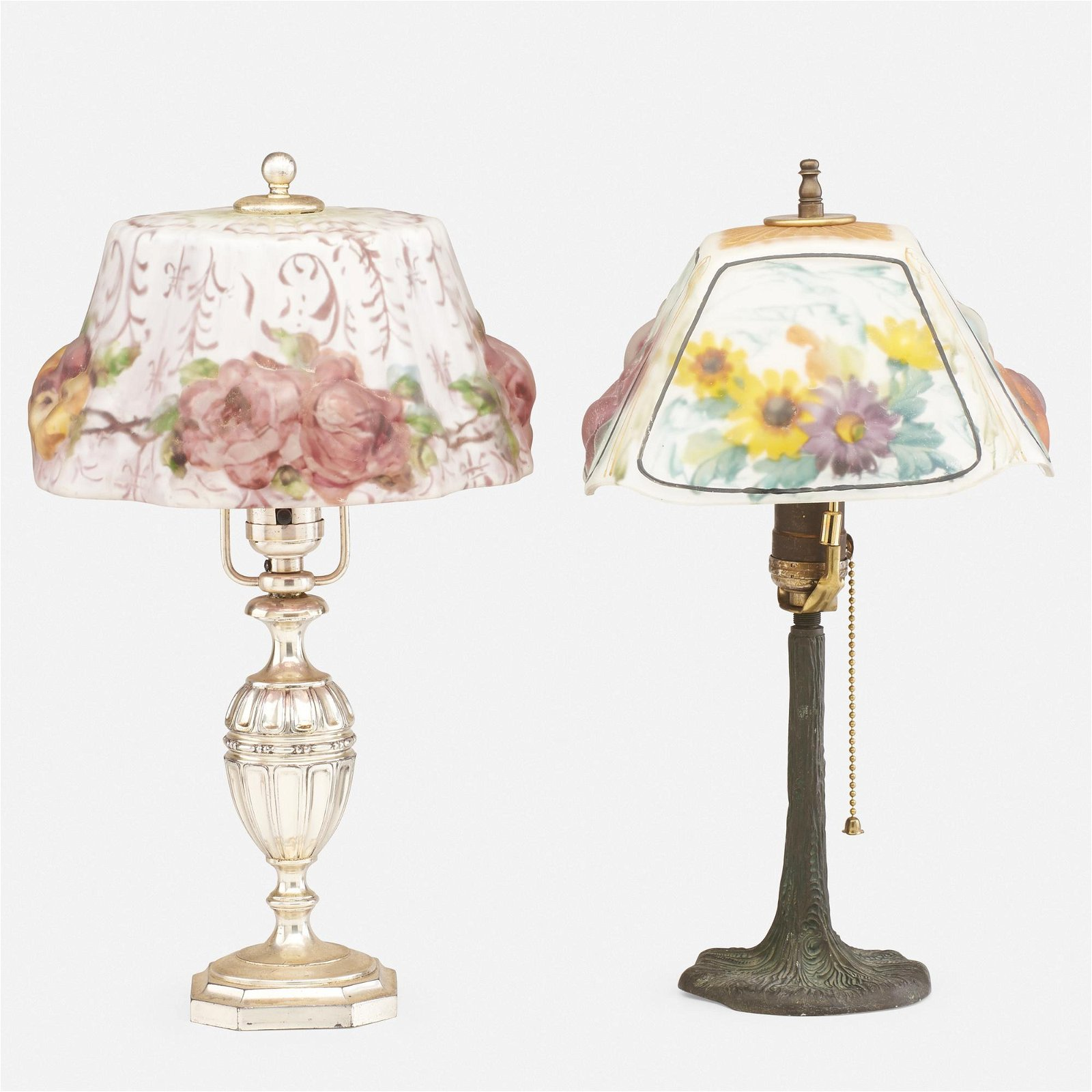 Pairpoint, Puffy boudoir lamps, set of two
