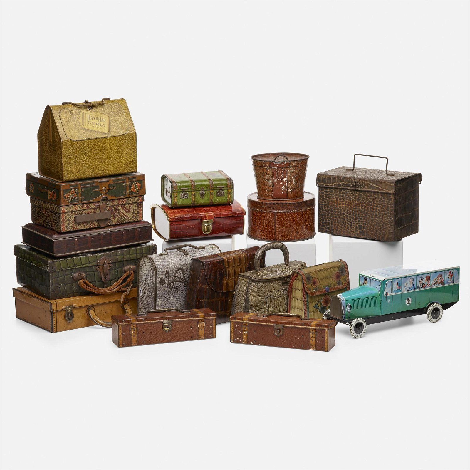 biscuit tins, collection of eighteen