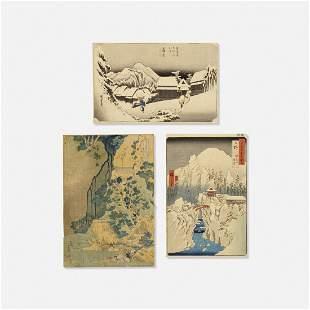 Japanese, Ukiyo-e color woodblock prints