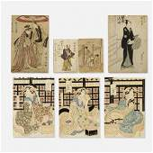 Japanese Ukiyoe color woodblock prints