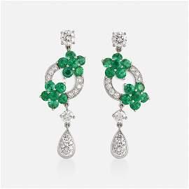 Graff, 'Rosette' emerald and diamond earrings