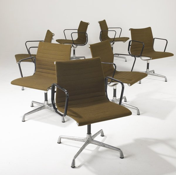 2: CHARLES EAMES / HERMAN MILLER Set of office chairs