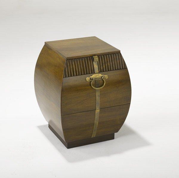 9: JOHN WIDDICOMB Two-drawer bombe nightstand