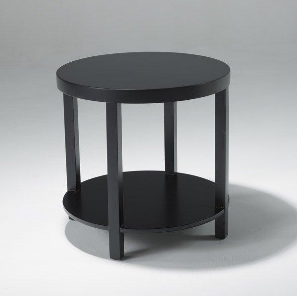 10: WIDDICOMB Occasional table in black lacquer finish