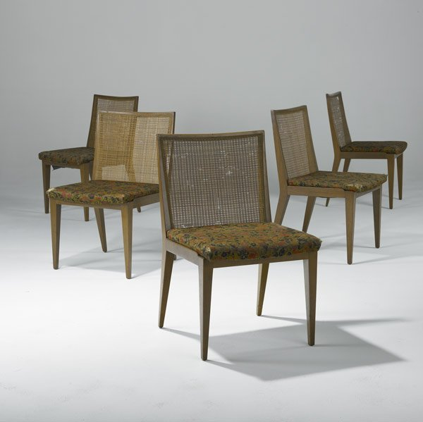 13: EDWARD WORMLEY / DUNBAR Group of five dining chairs