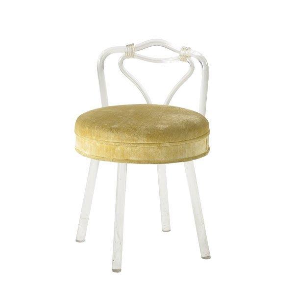 21: GROSVELDT HOUSE Lucite vanity stool